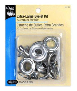 Dritz Extra-Large Eyelet Kit - Zinc