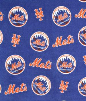 New York Mets MLB Fleece Fabric