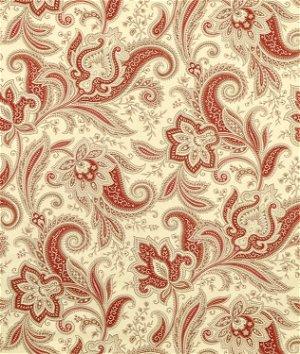 Waverly Rustic Retreat Crimson Fabric