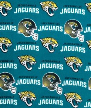 Jacksonville Jaguars NFL Fleece Fabric