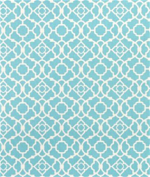 Waverly Lovely Lattice Aqua Fabric
