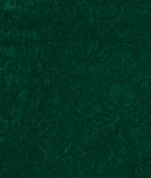 Emerald Green Crushed Flocked Velvet Fabric
