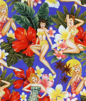 Alexander Henry Island Girls Blue Fabric