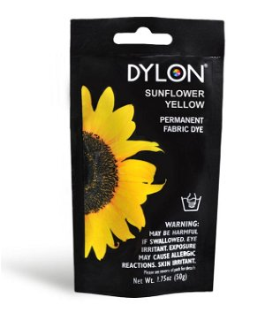 Dylon Permanent Fabric Dye - Sunflower Yellow