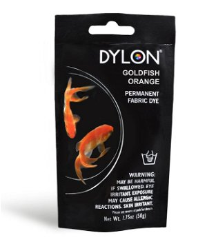 Dylon Permanent Fabric Dye - Goldfish Orange