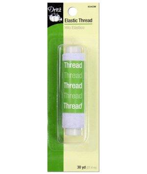 Dritz White Elastic Thread - 30 Yards