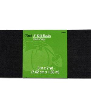 "Dritz 3"" Black Knit Elastic - 2 Yards"