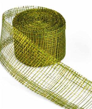 "2"" Moss Green Sinamay Ribbon - 10 Yards"