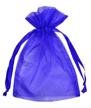 "4"" x 6"" Royal Blue Organza Favor Bags - 10 Pack"
