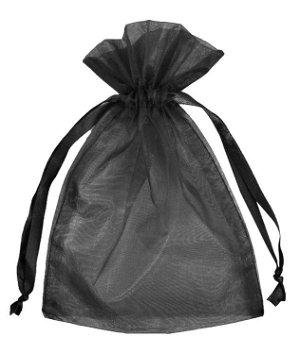 "4"" x 6"" Black Organza Favor Bags - 10 Pack"