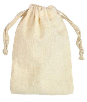 "4"" x 6"" Cotton Drawstring Bags - 12 Pack"