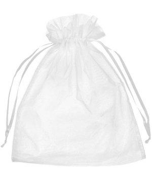 "12"" x 14"" White Organza Favor Bags - 10 Pack"