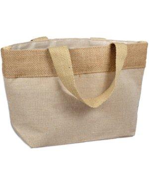 """11.5"""" x 7.5"""" x 4.5"""" Natural Jute Blend Tote Bag"""