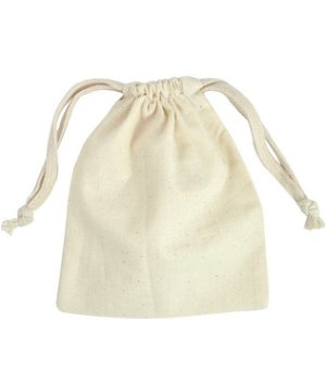 "5"" x 6"" Cotton Drawstring Bags - 12 Pack"