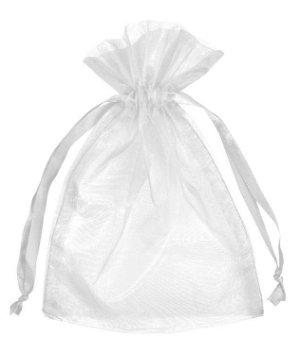 "6"" x 10"" White Organza Favor Bags - 10 Pack"