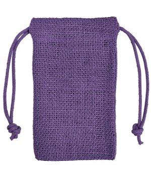 "3"" x 5"" Purple Jute Favor Bags - 12 Pack"