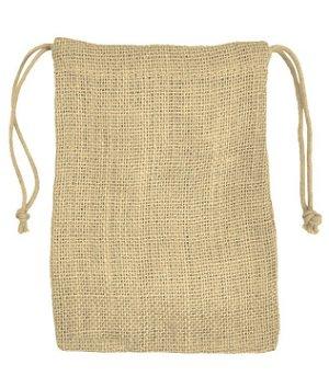 """5"""" x 7"""" Natural Jute Favor Bags - 12 Pack"""