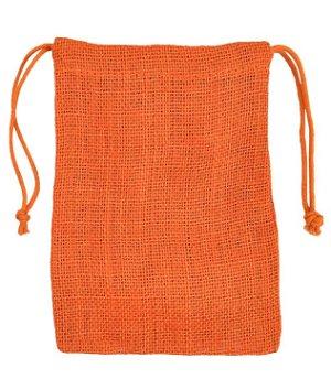 "5"" x 7"" Orange Jute Favor Bags - 12 Pack"
