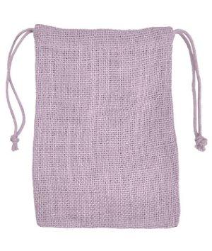 "5"" x 7"" Lavender Jute Favor Bags - 12 Pack"