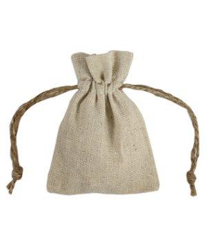 "3"" x 4"" Natural Linen Favor Bags - 12 Pack"