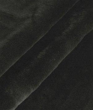 Black Beaver Faux Fur Fabric
