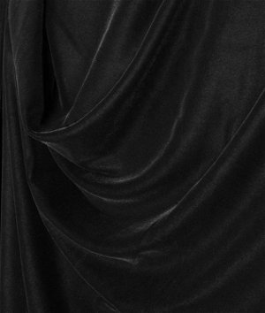 Black Micro Velvet Fabric