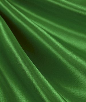 Kelly Green Satin Fabric