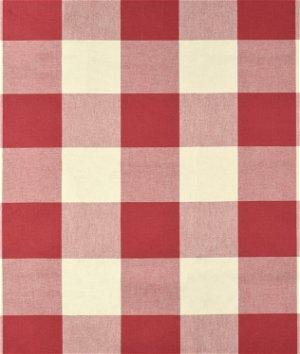 P Kaufmann Buffalo Check Claret Fabric