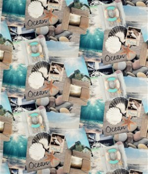 Stof Sweet Sea Bleu Fabric