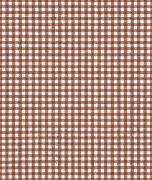 """Robert Kaufman 1/8"""" Chocolate Brown Carolina Gingham Fabric"""