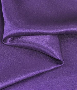 Purple Crepe Back Satin Fabric