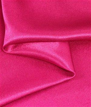 Fuchsia Crepe Back Satin Fabric