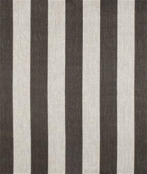 Constantine Smoke Gray/Oatmeal Linen Fabric