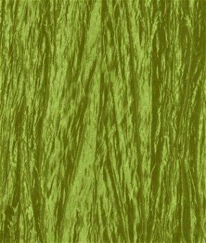 Dark Lime Green Crushed Taffeta Fabric