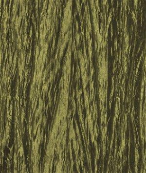Olive Green Crushed Taffeta Fabric