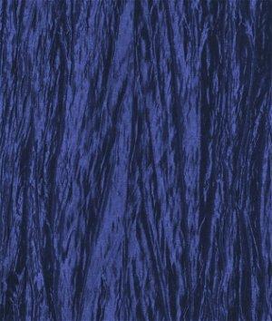 Royal Blue Crushed Taffeta Fabric