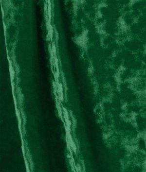 Hunter Green Crushed Stretch Velvet Fabric
