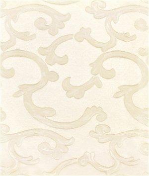 Ivory Scroll Brocade Fabric