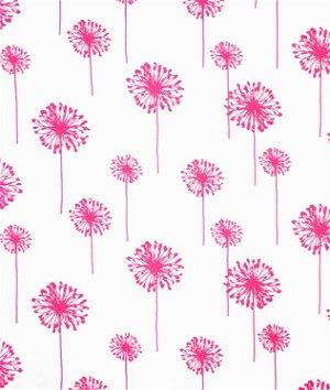 Premier Prints Dandelion White/Candy Pink Fabric