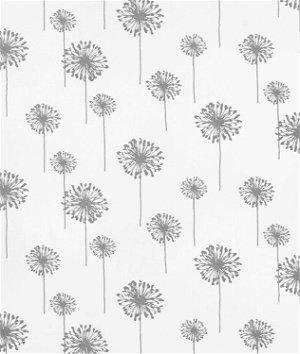 Premier Prints Dandelion White/Storm Twill Fabric
