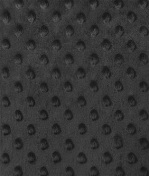 Black Minky Dot Fabric