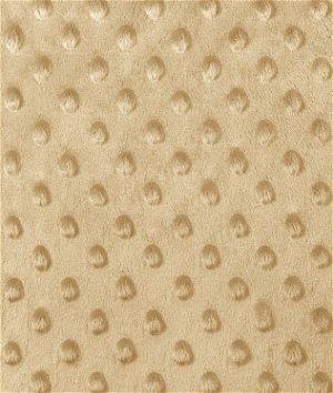 Camel Minky Dot Fabric