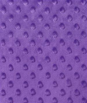 Purple Minky Dot Fabric