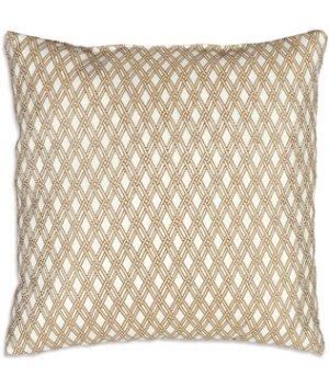 "OFS™ 16"" x 16"" Siderno Tan Lattice Decorative Pillow"