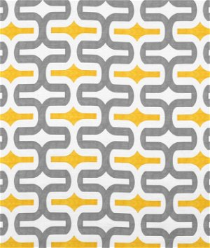 Premier Prints Embrace Storm/Corn Yellow Slub Fabric