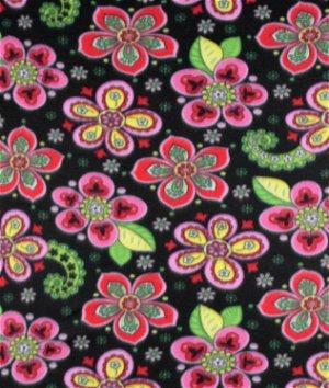 Black Fantasy Fleece Fabric