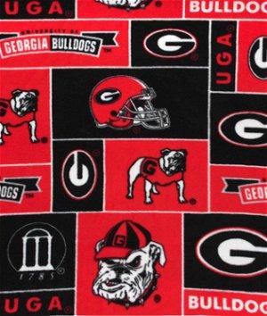 Georgia Bulldogs Allover NCAA Fleece Fabric
