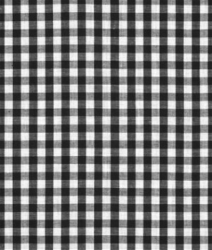 "1/4"" Black Gingham Fabric"