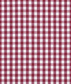 "1/4"" Burgundy Gingham Fabric"
