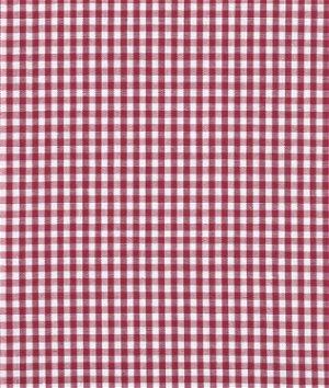 "1/8"" Burgundy Gingham Fabric"